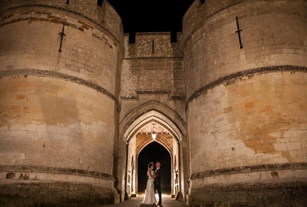 Couple in Castle Entrance