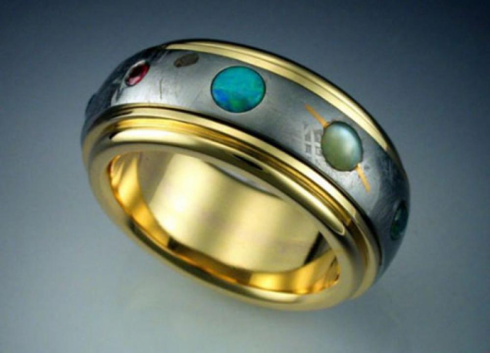 Nine Planet Gold Ring