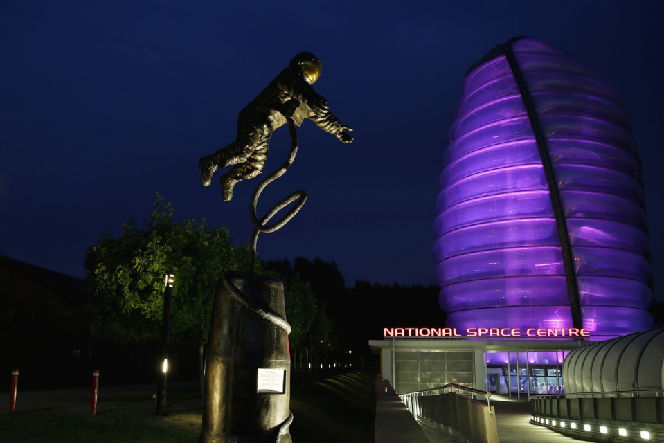 Outside National Space Centre