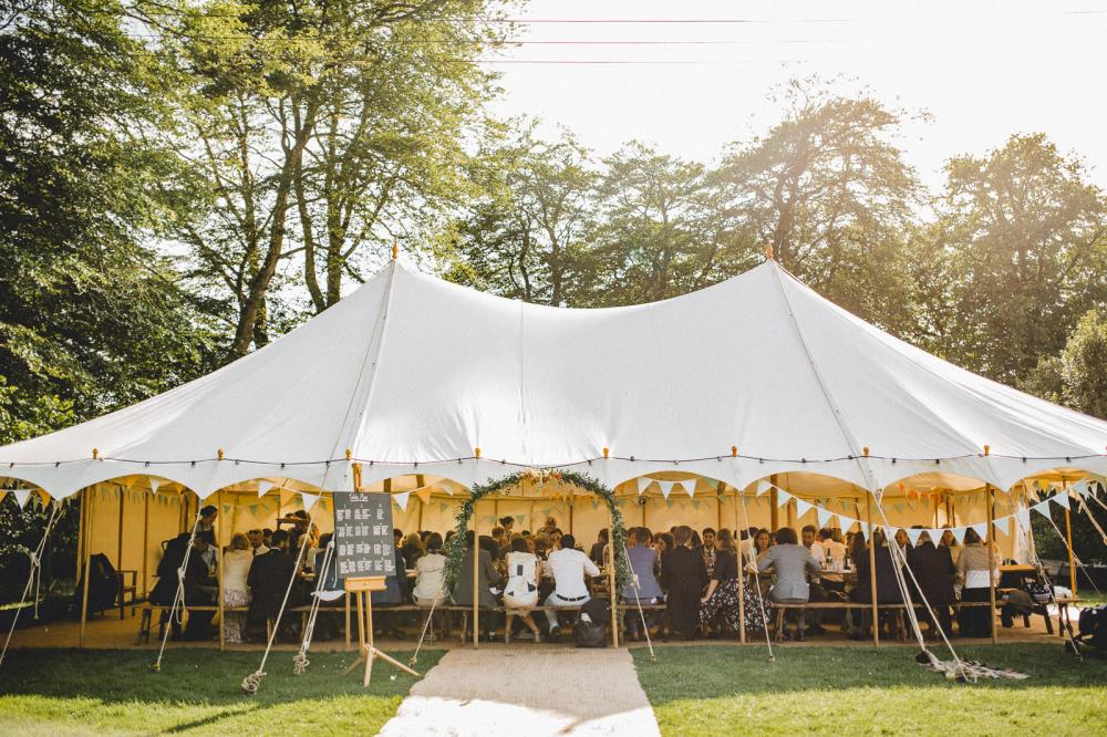 outdoor wedding marquee
